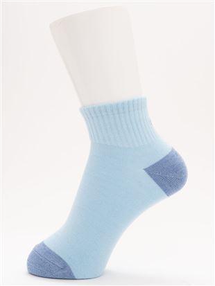 綿混バックBonjour刺繍アメリブソックス10cm丈|クルーソックス