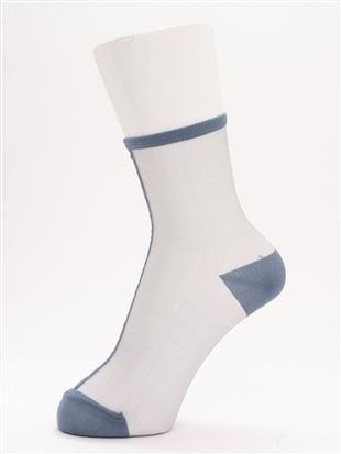 [レディライン]シースルーフロントラインソックス12cm丈|