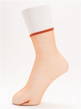 [レディライン]オールスルーソックス12cm丈|クルーソックス