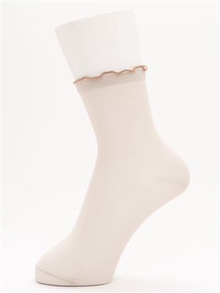 履き口メローシアーソックス14cm丈|クルーソックス