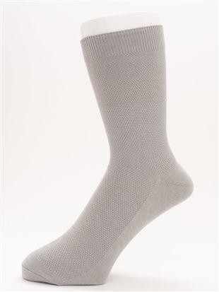 [メンズ]ちょうどいい靴下履き口ゆったり鹿の子リンクス温調ソックス19cm丈|