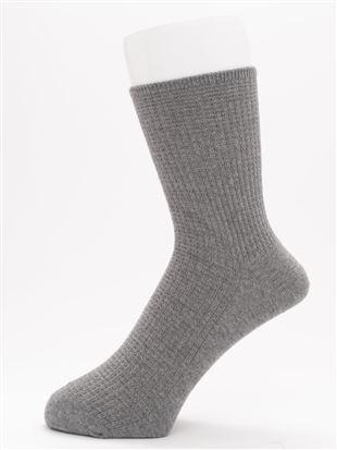 [メンズ]履き口ゆったりリンクス格子柄ソックス18cm丈|