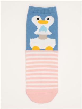 [キッズ]太陽光で色が変わるかき氷とペンギンのソックス|