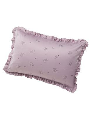 ビションフリーゼ柄サテン枕カバー|