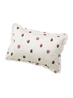 いちご柄サテン枕カバー|