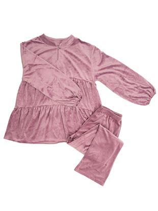 ベロア風ティアードパジャマ|