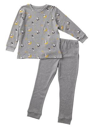[キッズ]パンダ柄ワッフルパジャマ|