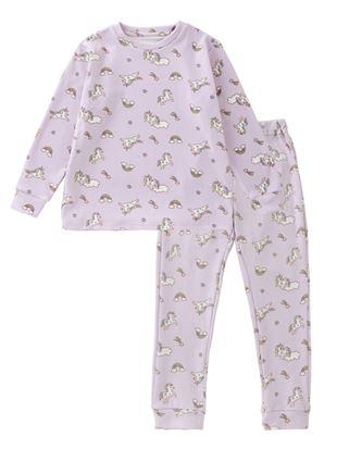 [キッズ]ユニコーン総柄フリースパジャマ|キッズパジャマ・ルームウェア