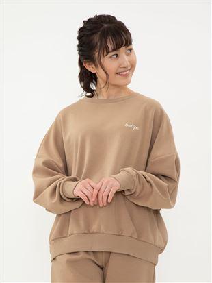 【橋下美好オリジナル】刺繍スウェットプルオーバー トップス
