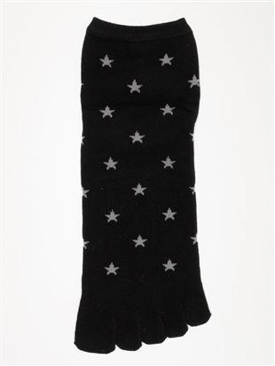 星柄5本指ソックス10cm丈|