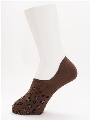 [ストレス0靴下]ヒョウ柄超深履きカバーソックス|