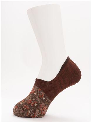 [ストレス0靴下]ラメフロート花柄超深履きカバーソックス|カバーソックス・フットカバー