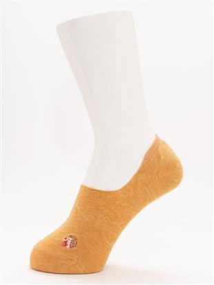 [ストレス0靴下]綿混読書ハリネズミ刺繍深履きカバーソックス|カバーソックス・フットカバー