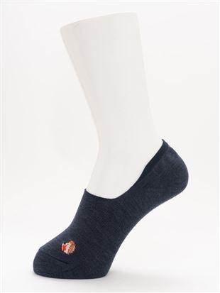 [ストレス0靴下]綿混読書ハリネズミ刺繍深履きカバーソックス|