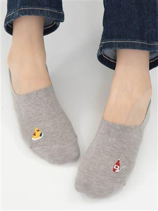 [ストレス0靴下]オムレツとダック超深履きカバーソックス|カバーソックス・フットカバー