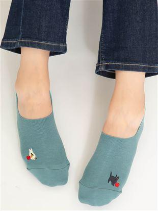 [ストレス0靴下]ちょうどいい靴下リンゴと猫超深履きカバーソックス|カバーソックス・フットカバー
