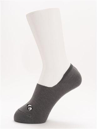 [ストレス0靴下]パンダ刺繍超深履きカバーソックス|