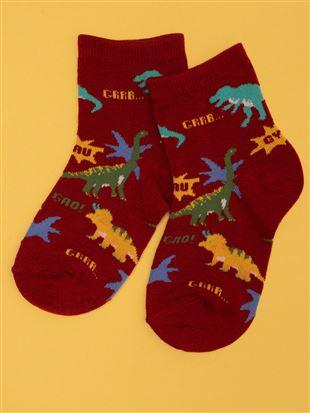[キッズ]ちょうどいい靴下恐竜大集合温調ソックス|キッズソックス
