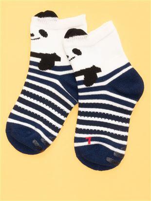 [キッズ]パンダ柄歩育ソックス|