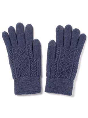 リンクスダイヤ柄手袋|手袋