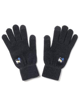 ワンポイント毛糸と猫ちゃん刺繍手袋|手袋