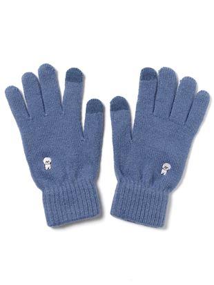 ワンポイントビションフリーゼ刺繍手袋|手袋
