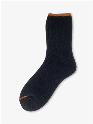 [メンズ]まるで毛布!のような暖かさ裏起毛履き口ラインソックス21cm丈|メンズソックス