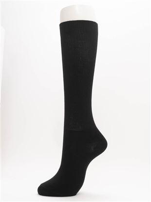 履き口ゆったり抗菌吸湿発熱平無地ハイソックス32cm丈|ハイソックス