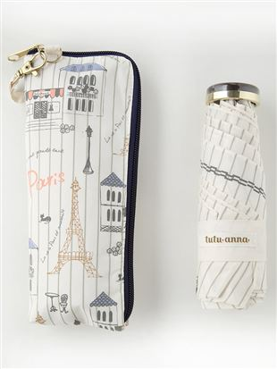 パリ柄折りたたみ傘|
