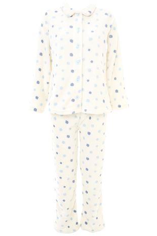 ドット柄マイクロファイバーパジャマ|パジャマ