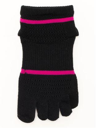 指先立体編み母趾踵クッション付き5本指ソックス|スポーツソックス
