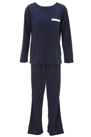 ボトムライン入りダンボール長袖パジャマ|パジャマ