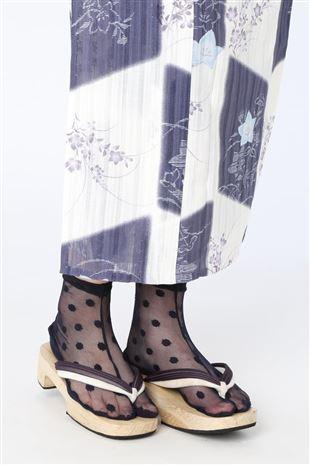 ドット柄チュール足袋ソックス13cm丈|