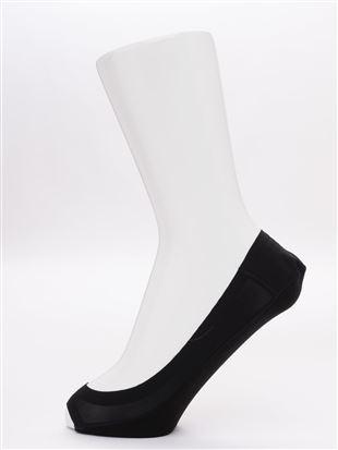 足底綿浅履きつま先開きカバーソックス|カバーソックス・フットカバー