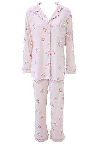 ウサギ柄スムースパジャマ|パジャマ