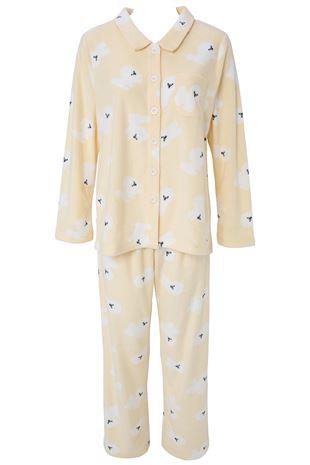 ビションフリーゼ柄フリースパジャマ|パジャマ