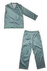 サテン花柄襟付き長袖パジャマ|パジャマ