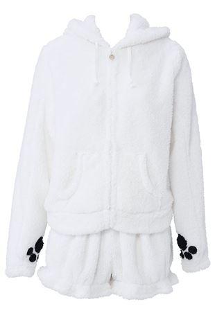 ボア白クマ着ぐるみ|着ぐるみ