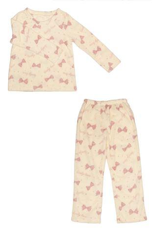 メッシュジャガードリボンマイクロファイバーパジャマ|パジャマ
