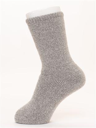 まるで毛布!のような暖かさ裏起毛ソックス21cm丈|クルーソックス